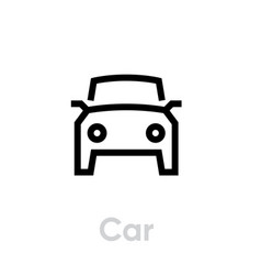 car icon auto editable line symbol vector image