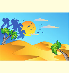 Cartoon desert landscape vector