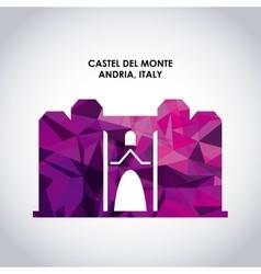 Castel del monte icon italy culture design vector