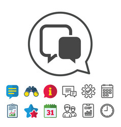 chat sign icon speech bubble symbol vector image