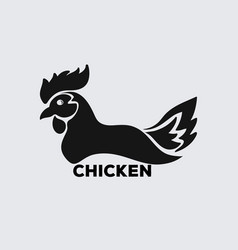chicken icon logo vector image