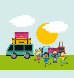 Children icon design vector