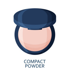 compact powder make up background cosmetic icons vector image