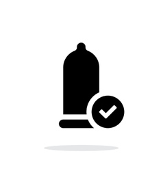Condom Check icon on white background vector image