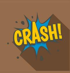 crash explosion speech bubble icon flat style vector image
