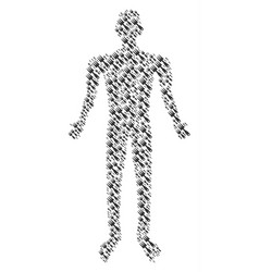 cultivator rake person figure vector image