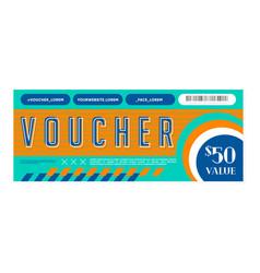 Design colorful discount voucher vector