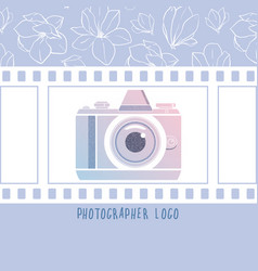 design element for photographer logotype vector image