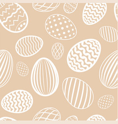 easter egg seamless pattern milk chocolate color vector image