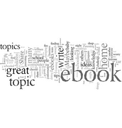 Ebook topic ideas vector