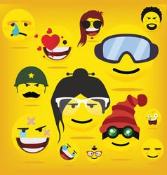 Emoji emoticon smiley vector