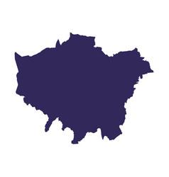 Englan map silhouette vector