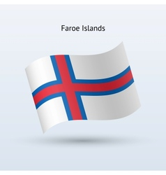 Faroe Islands flag waving form vector image vector image
