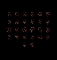 Flash alphabet font letters modern design font vector