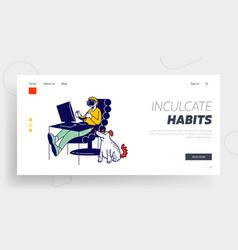 gaming addiction bad habit virtual reality vector image