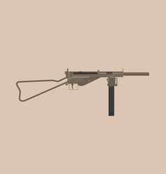 German mp3008 gun world war 1 and 2 submachine gun vector