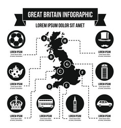 Great britain infographic concept simple style vector