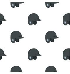 Grey baseball helmet pattern seamless vector