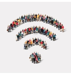 group people sign Wi fi vector image