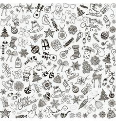 Hand Drawn Christmas Doodles Seamless vector