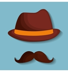Hat and hipster items image vector