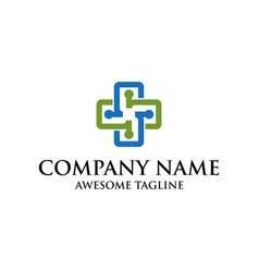 health care symbol logo medical logo cross symbol vector image