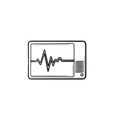 Health monitor hand drawn outline doodle icon vector