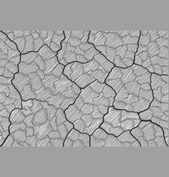 image cracks shaded in the style of doodle vector image