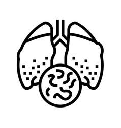 Infectious disease tuberculosis line icon vector