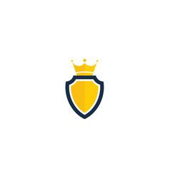 king shield logo icon design vector image