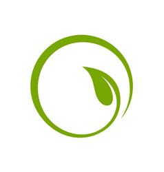 Leaf circle logo template vector