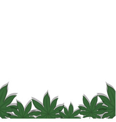 leaves frame background vector image