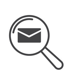 mail message icon magnifying glass vector image