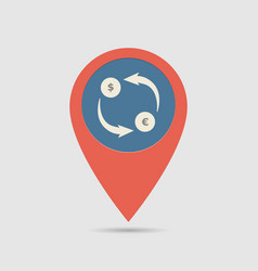 map pin exchange money vector image