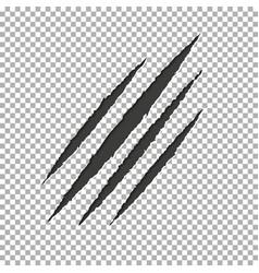 monster tear claw scratch mark llion break paper vector image