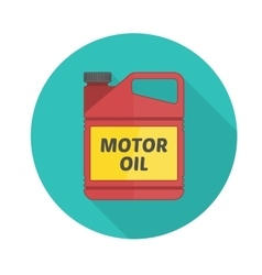 Motor oil icon vector image