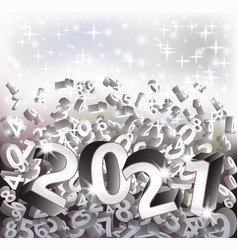 new 2021 year 3d greeting card vector image