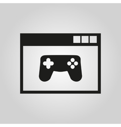 Online games icon design gaming symbol vector image