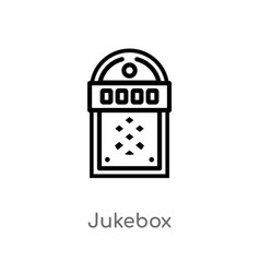 Outline jukebox icon isolated black simple line vector
