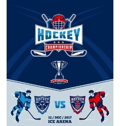 Poster of the championship in ice hockey vector