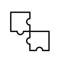 Puzzle jigsaw icon vector