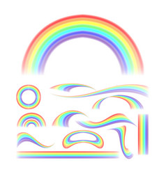 Rainbow set different shape collection vector