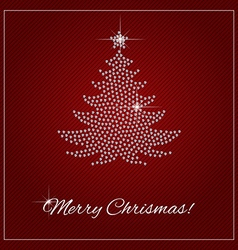 Rhinestone Christmas Template vector image