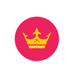 royal crown - concept colored icon in flat graphic vector image