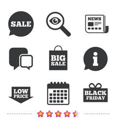 Sale speech bubble icon black friday symbol vector