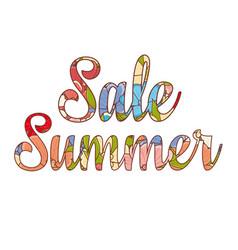 sale summer lettering best for banner vector image