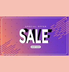 Sales banner template design for business vector