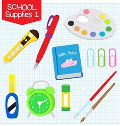 school supplies1 vector image