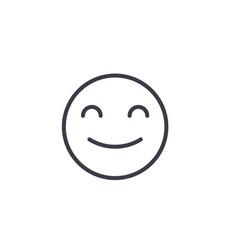 smiling emoji concept line editable vector image