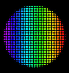 spectral colored pixel filled circle icon vector image